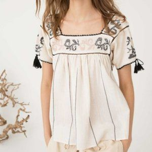 Ulla Johnson Lila embroidered blouse top size 2